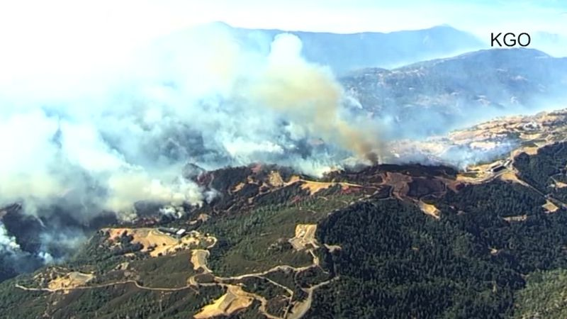 Fires continue to burn in Northern California as evacuations grow. (Source: KGO via CNN)