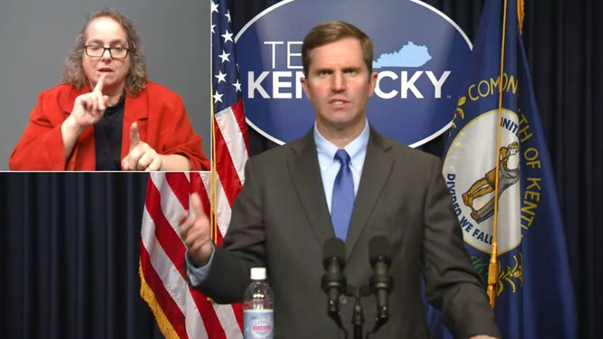 Kentucky Gov. Andy Beshear on Monday announced 1,268 new COVID-19 cases and 39 more deaths.