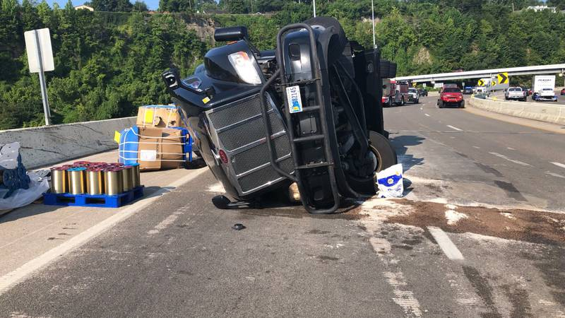 Police tell WSAZ it will take anywhere from 6 to 8 hours just to unload the trailer, at which...