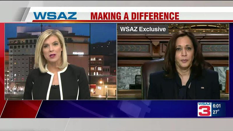 Vice President Kamala Harris speaks exclusively with WSAZ about challenges facing our region