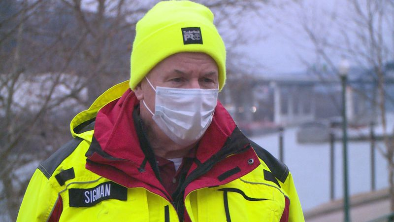 Kanawha County emergency management director C.W. Sigman prepares for wintry conditions.