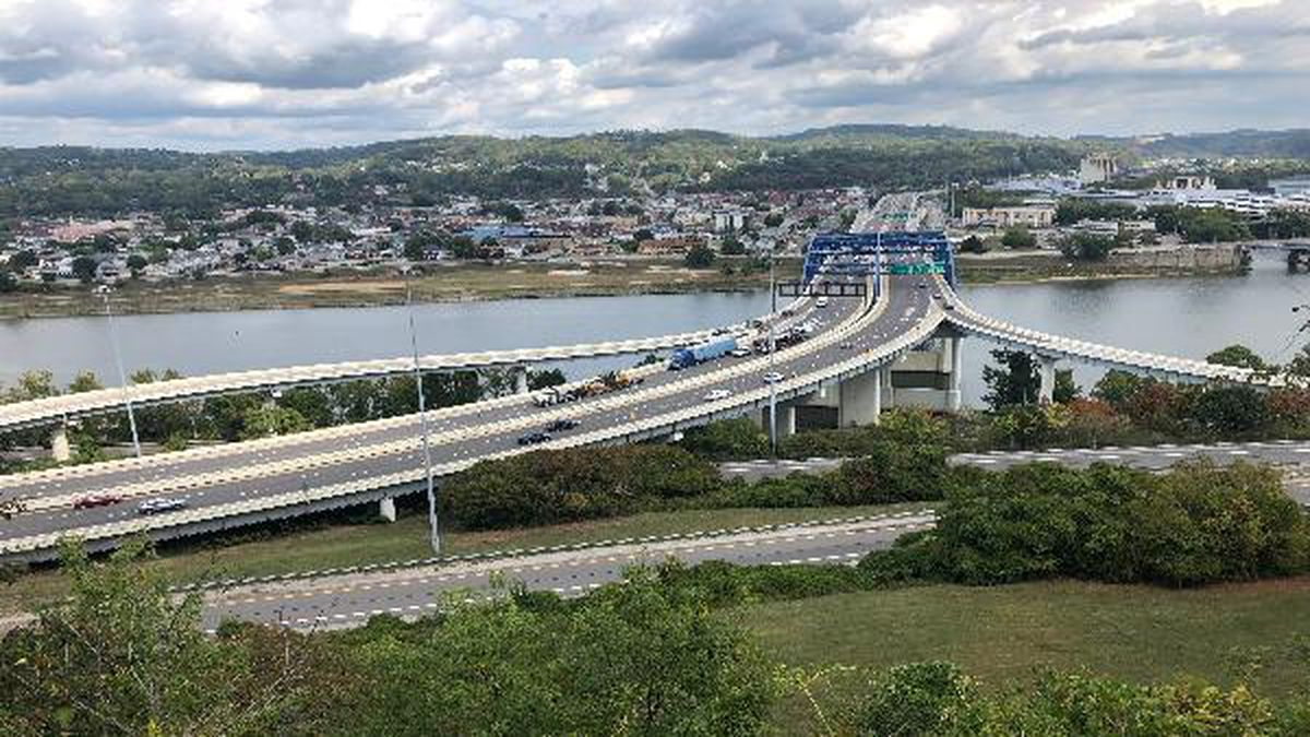 Bridge deck construction is set to begin on this stretch of Interstate 64 in Charleston on October 5, 2019.