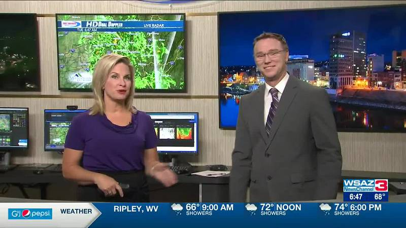 Brandon Butcher Delivers the First Warning Forecast for Tuesday, September 21st, 2021.