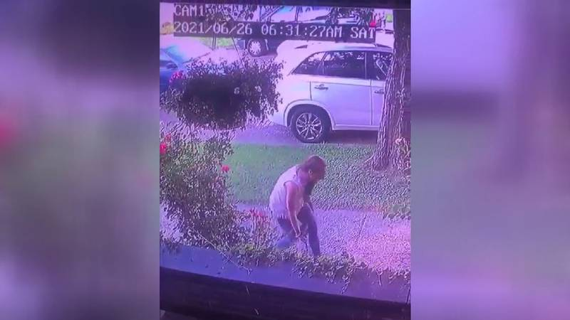 This woman was caught stealing items off of a porch on McConnell Ave. in Portsmouth.