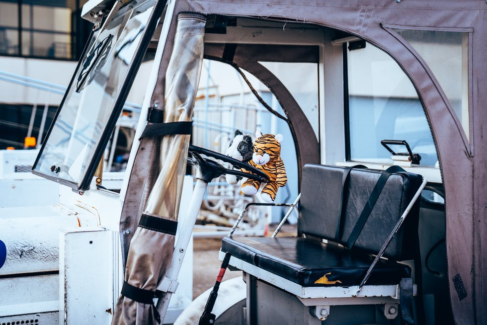 A stuff tiger was left behind at Yeager Airport in Charleston, W.Va. Staff is searching for the...
