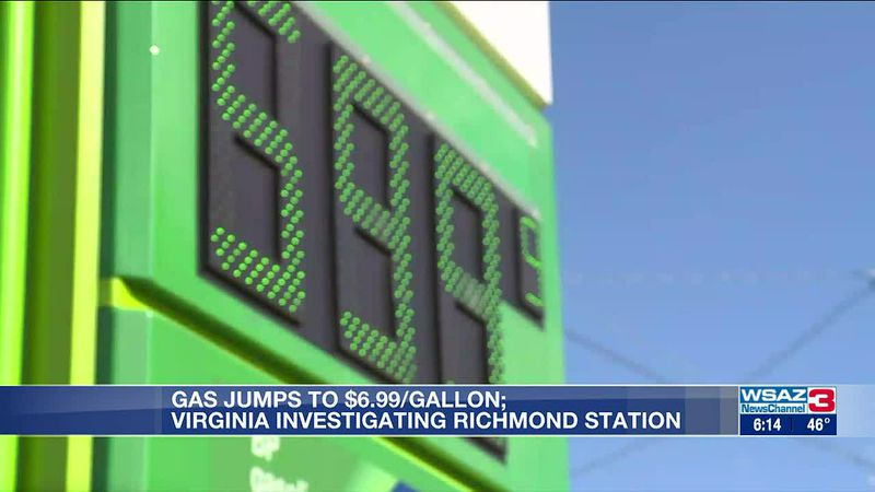 Gas station accused of gouging as prices go to $6.99/gallon