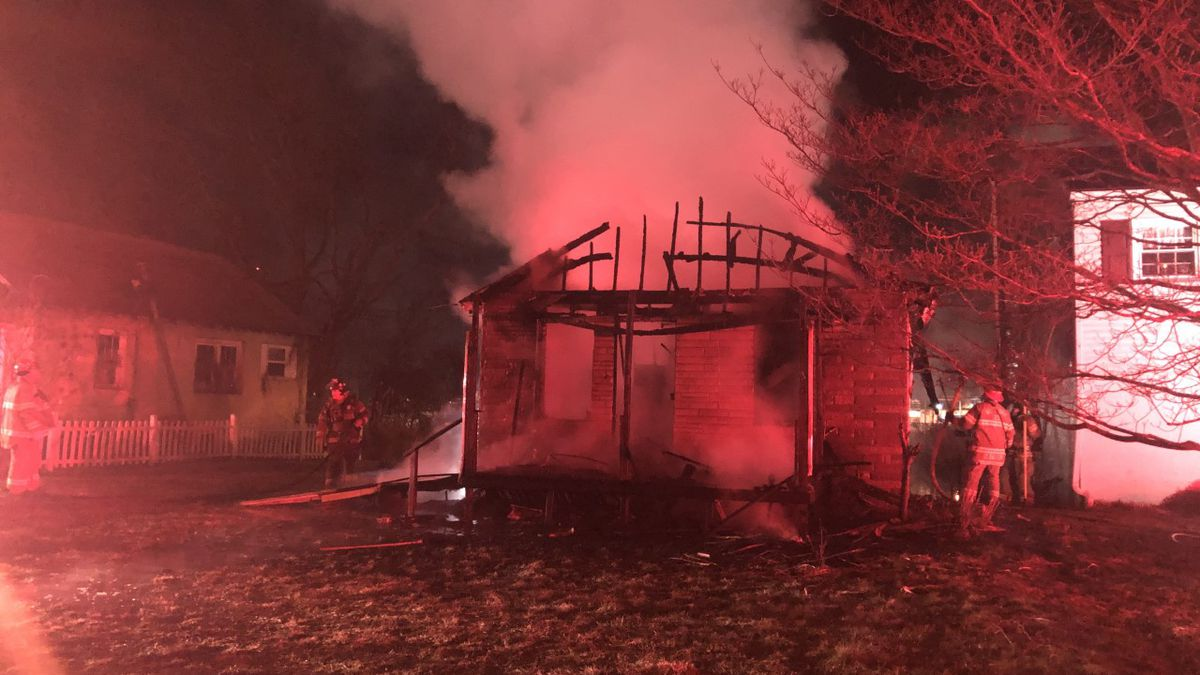 Crews from three departments are on the scene of a house fire late Tuesday night that has...