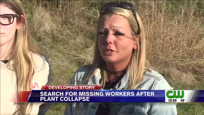 A woman is holding onto hope that her fiancé's rescued from a building collapse in Adams...
