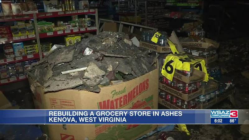 Looking to rebuild Kenova grocery store after fire