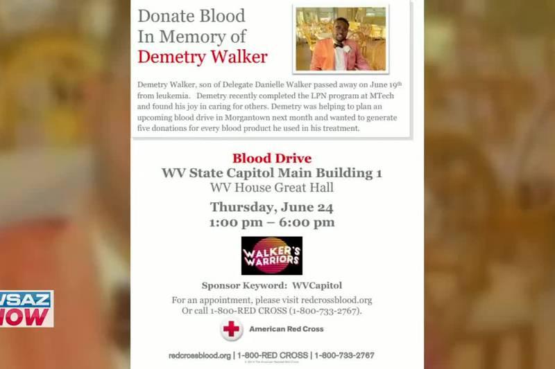 De. Danielle Walker joins the WSAZ Now Desk to talk about a blood drive happening Thursday in...