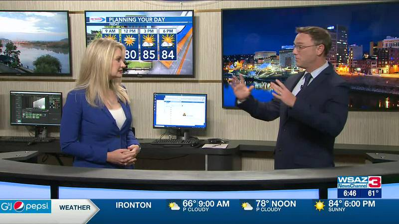 Brandon Butcher Delivers the First Warning Forecast for Friday, July 23rd, 2021.