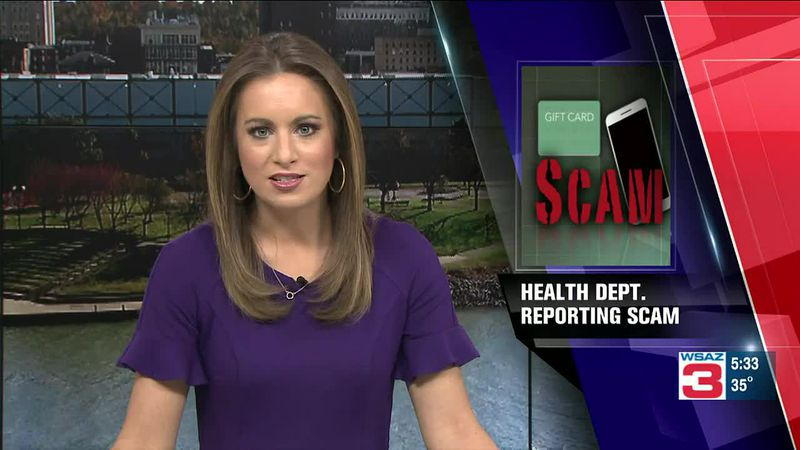 Lawrence County Health Department reporting phone scam