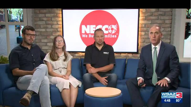 Zeke Davis, Reginal Director of Foster Care at Necco, along with Zack and Whitney Harold ,who...
