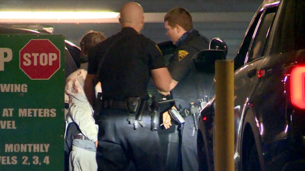 One man was arrested after trying to get away from police on a bicycle.