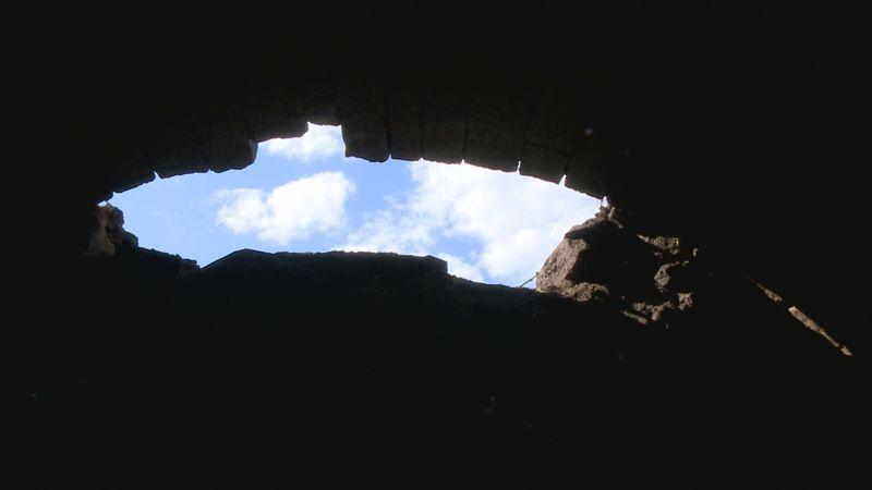 An underground tunnel was found in Ironton, Oh.