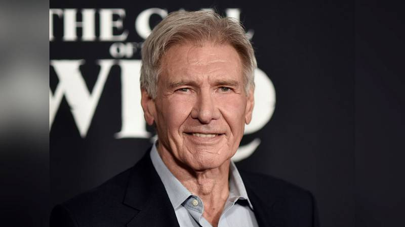 """FILE - Harrison Ford attends the premiere of """"The Call of the Wild"""" in Los Angeles on Feb. 13,..."""