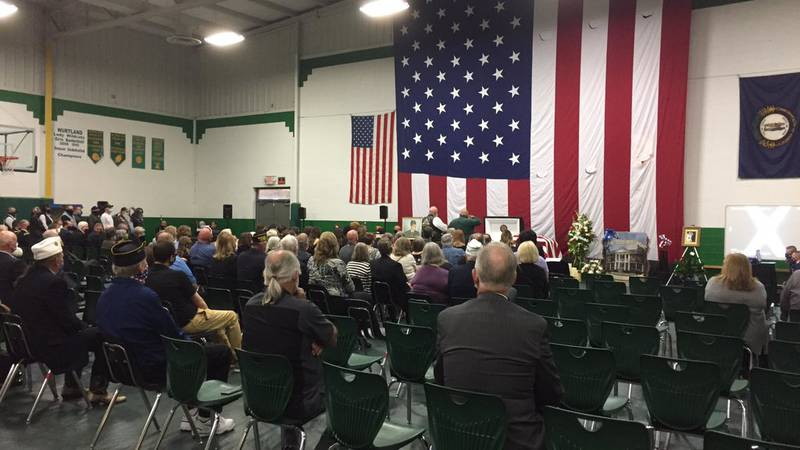 Wurtland Middle School nearly filled to capacity to celebrate the life of Congressional Medal...