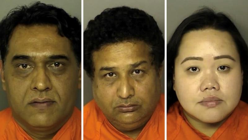 Left to right: Raja Younas, Syed Naqvi, Jessica Voight