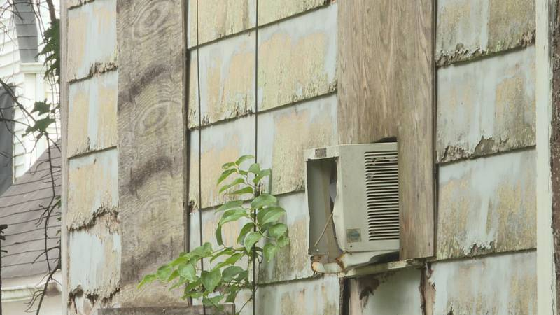 This abandoned home in the 4100 block of Lancaster Avenue is set to be demolished in the coming...