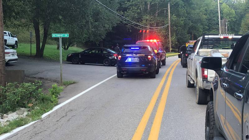 Two people are confirmed dead in a two-vehicle accident in Clendenin, West Virginia.