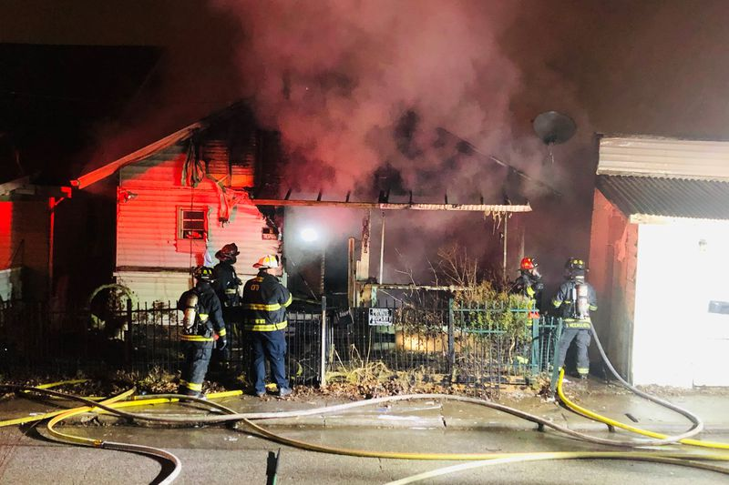 A fire broke out at a home in Charleston early Monday morning.