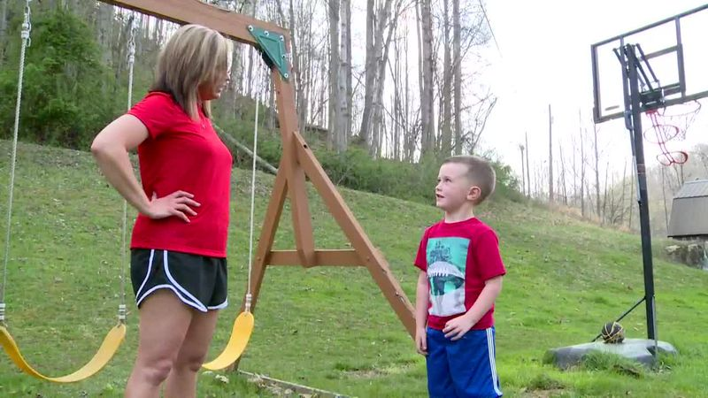 Landon Haas was swinging in his back yard when he heard cries for help.