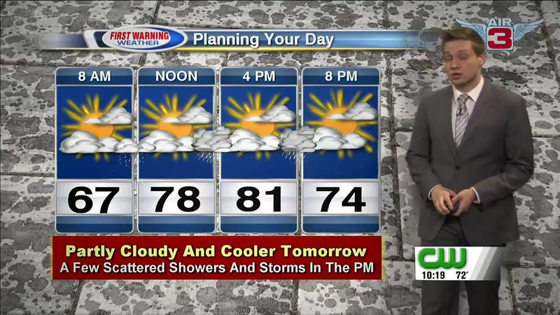 Meteorologist Drew Narsutis looks ahead to less heat and humidity early in the week.