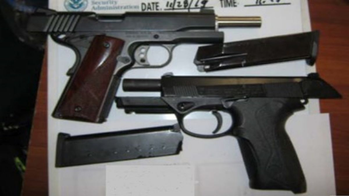 A Sissonville man was found by TSA with two guns in his backpack on Thanksgiving Day in Charleston.