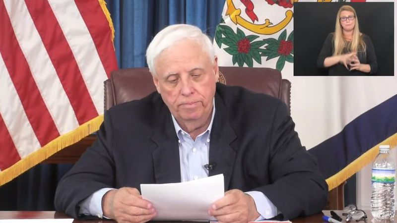 Governor Justice holds press conference