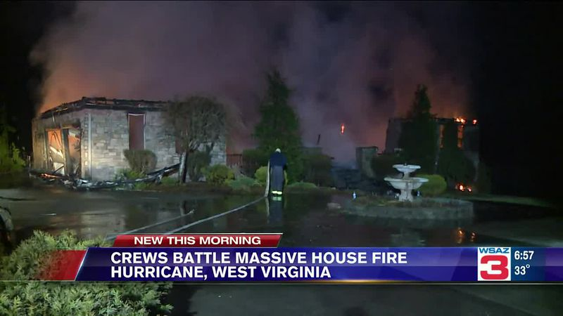 Fire destroys Hurricane home