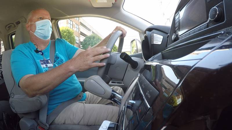 Kent Thompson has been driving a medical transport van for 11 years and says many people rely...
