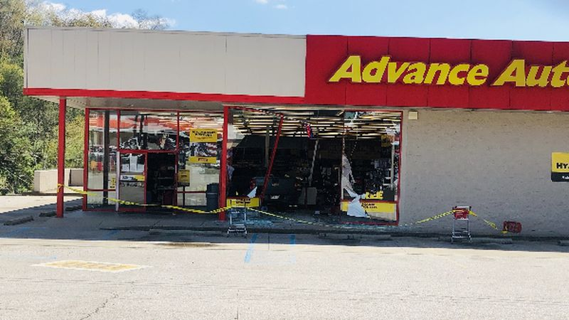 Metro 911 dispatchers say a vehicle crashed into the Advance Auto Parts in Elkview Wednesday...
