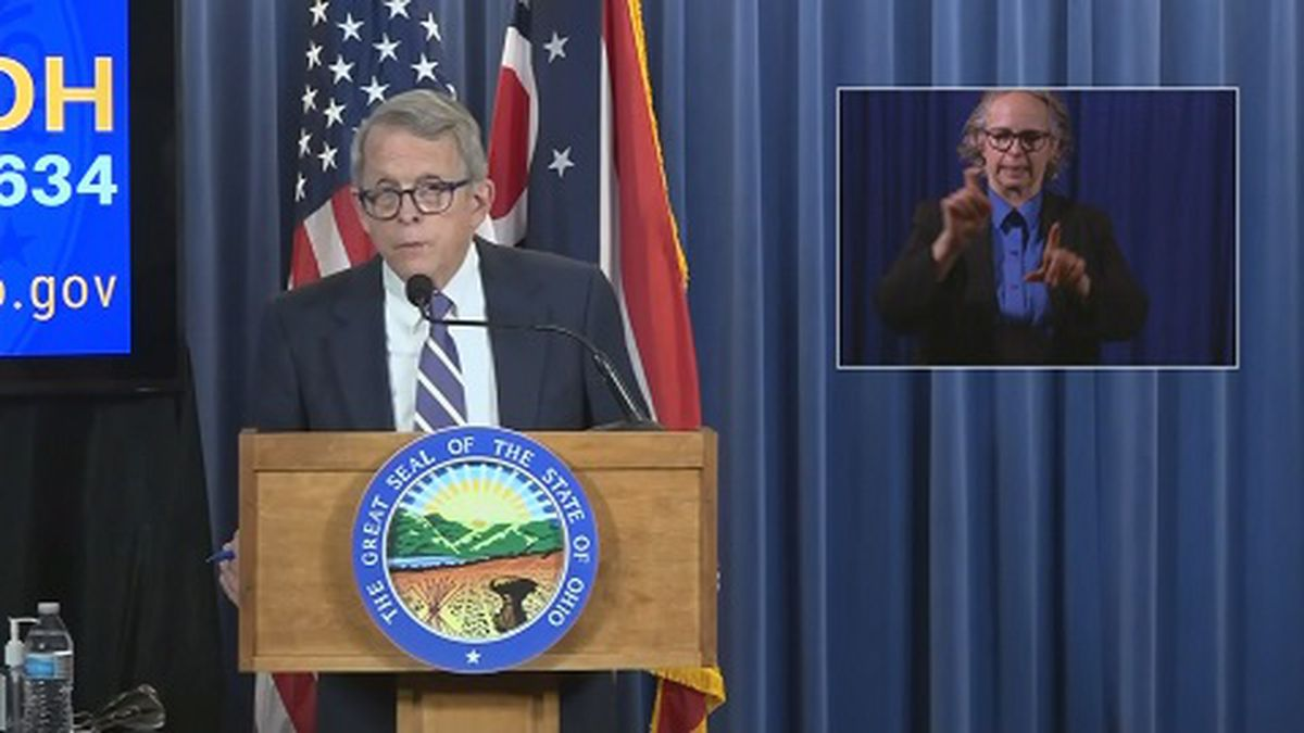 Two days after initially testing positive for COVID-19, Ohio's governor has tested negative for a second time.