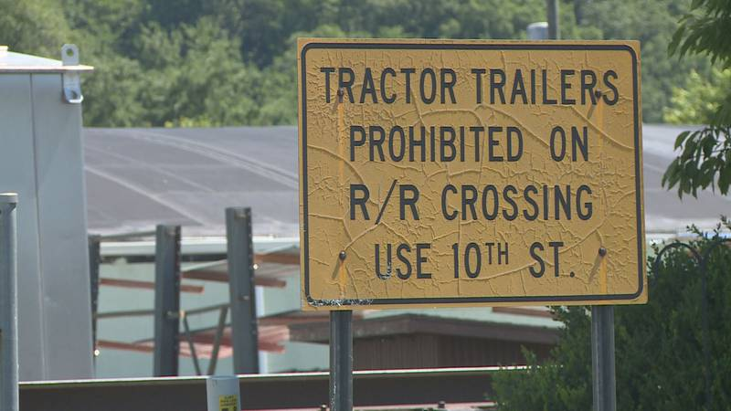Dunbar police say tractor-trailers cross the intersection, even with warning signs posted, and...