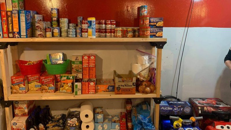 A woman in Jackson County, W.Va., has started a food pantry in her basement to help out the...