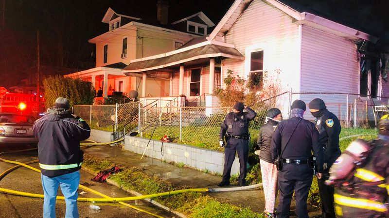 The fire broke out on Ruffner Ave. early Friday morning.