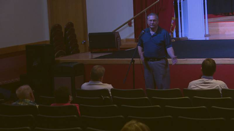 Community members were able to express their concerns about proposed utility rate increases...