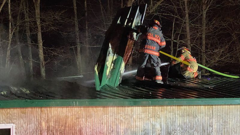 Lincoln County 911 dispatchers say the fire started on Upper Mollys Branch Road.