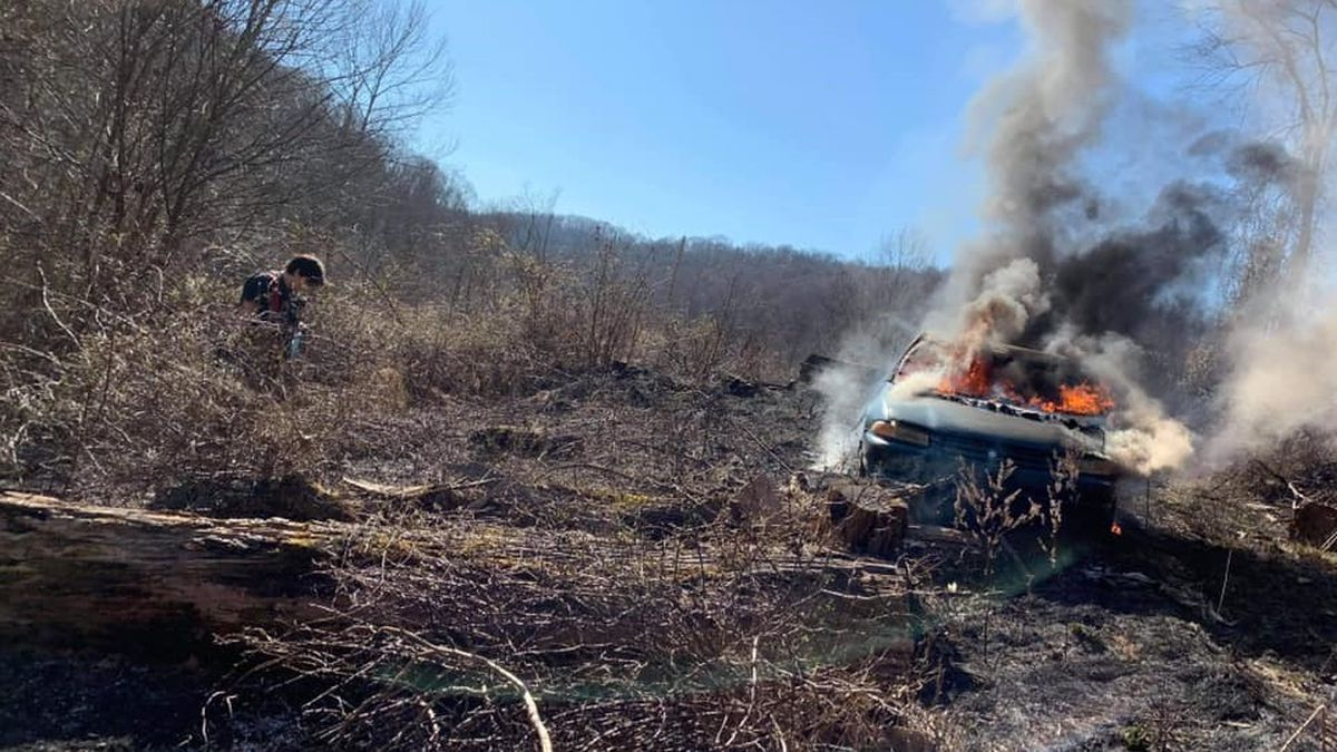 An elderly man was seriously burned Wednesday in an incident that turned into a large brush...