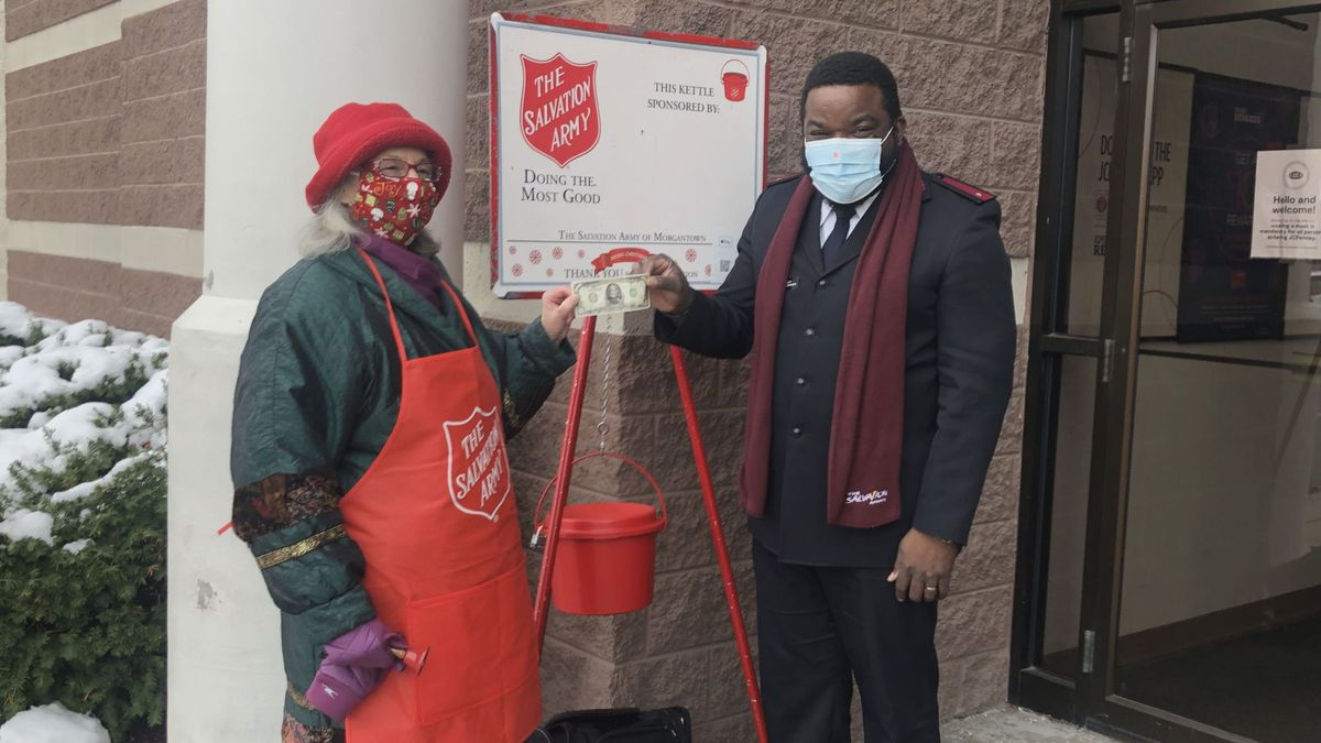 Not even the bell ringer knew that a $1000 bill was donated in her bucket