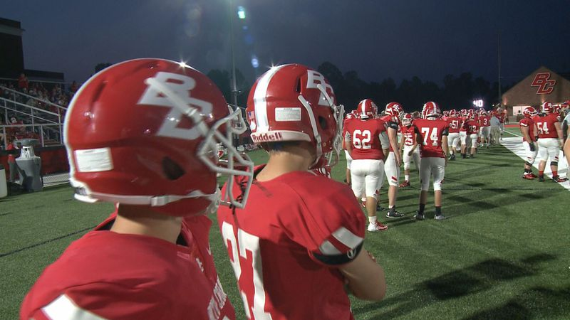 Boyd County High School's new football field was ready for its opening night as the Lions...