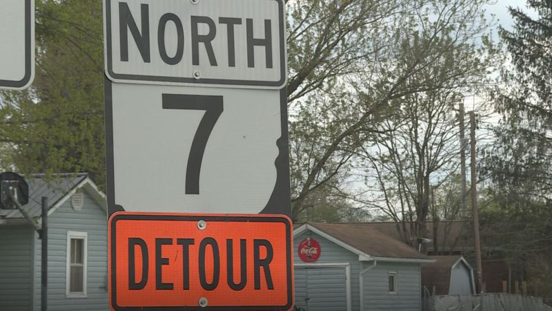 Neighbors in Gallia County are adjusting to a detour to the construction project on state Route...