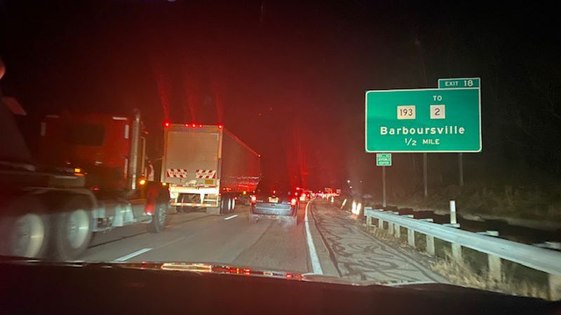 Interstate 64 West is back open Tuesday night in the Barboursville area, but traffic is still...