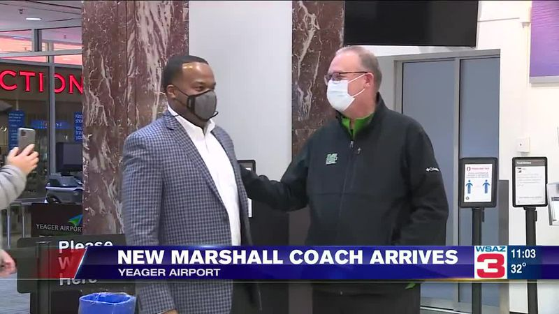 New Marshall Football Coach has arrived at Yeager Airport