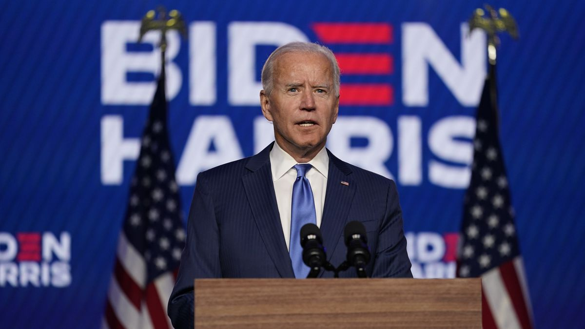 After surpassing 270 electoral votes and declaring a projected win, Joe Biden released a...