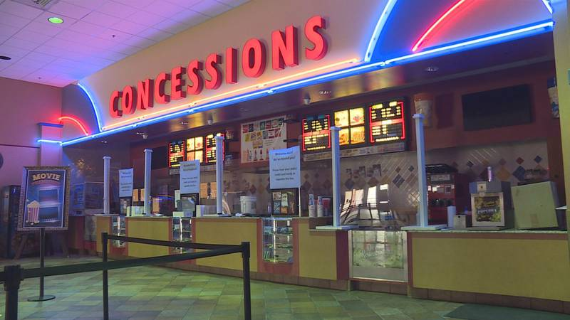 The owner of the entertainment center says the movie theater will be renovated and ready for...