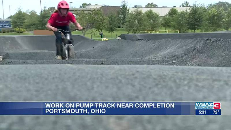 Construction on pump track nearing completion