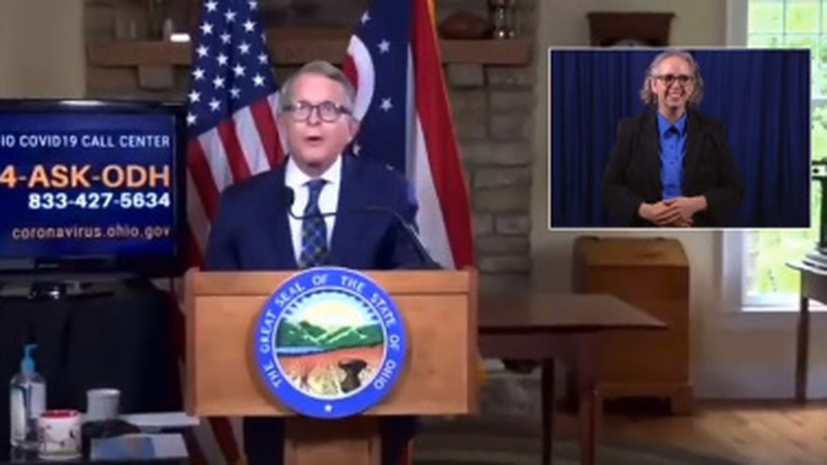 Gov Dewine Give Covid 19 Update Details School Virus Reporting Order