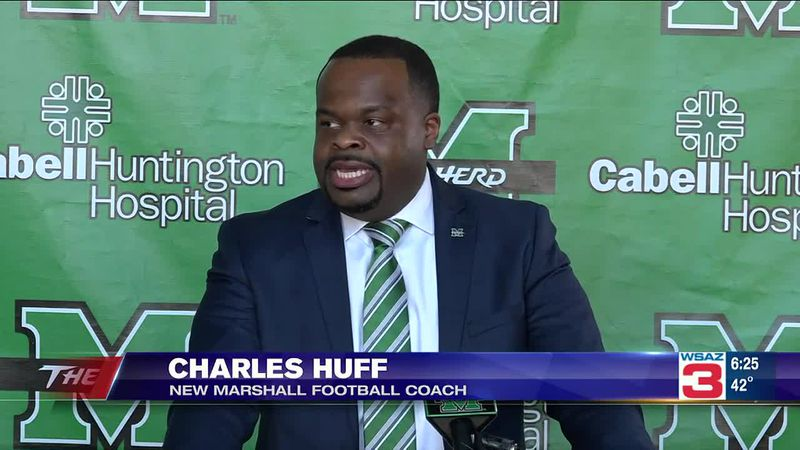 Charles Huff was introduced Tuesday as Marshall University's head football coach.