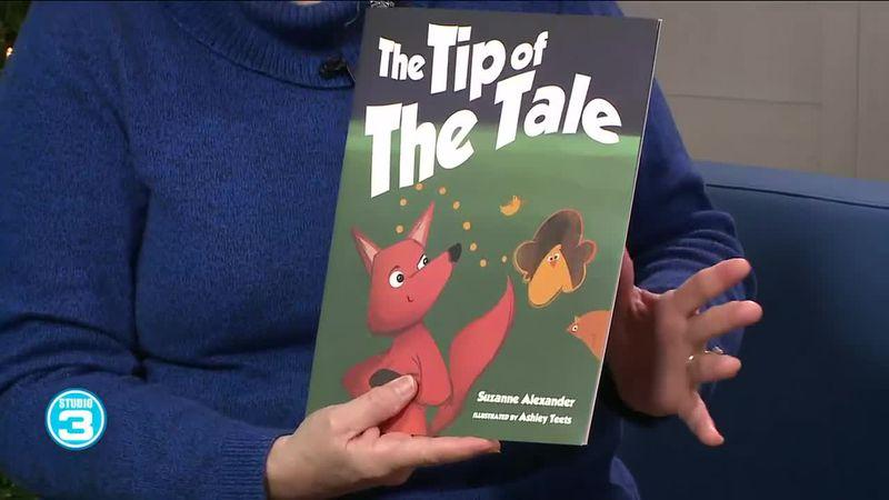 Local author talks children's book, makes fox finger puppet